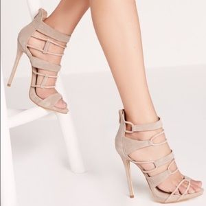 🦋 Missguided caged sandals heels